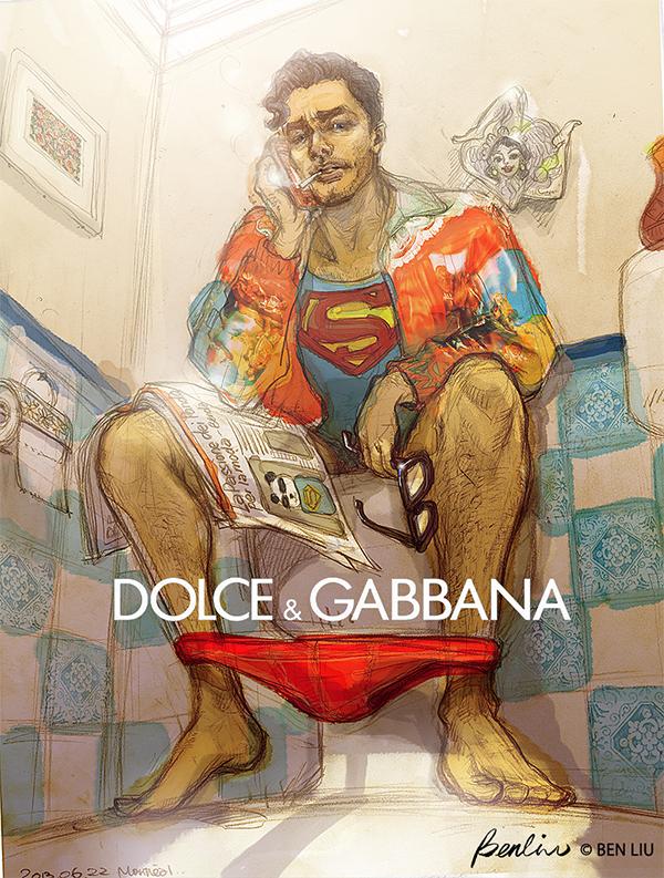 Superman-David-Gandy-Dolce-Gabbana-Ben-Liu