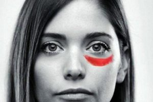 Violenza sulle donne calzino bianco corto- Twelveglances